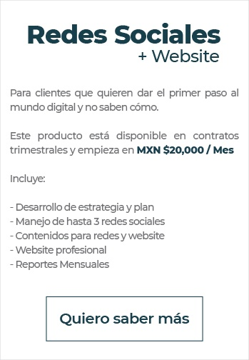Redes Sociales + Website Pricing
